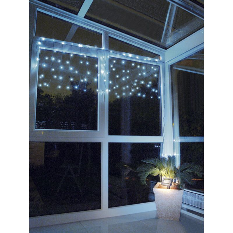 Rideau solaire lumineux led noel guirlande solaire f tes for Rideau lumineux interieur