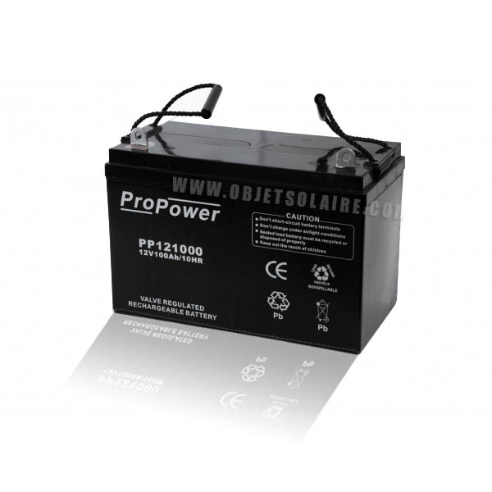 batterie solaire agm 12 v 100 a batteries solaires. Black Bedroom Furniture Sets. Home Design Ideas