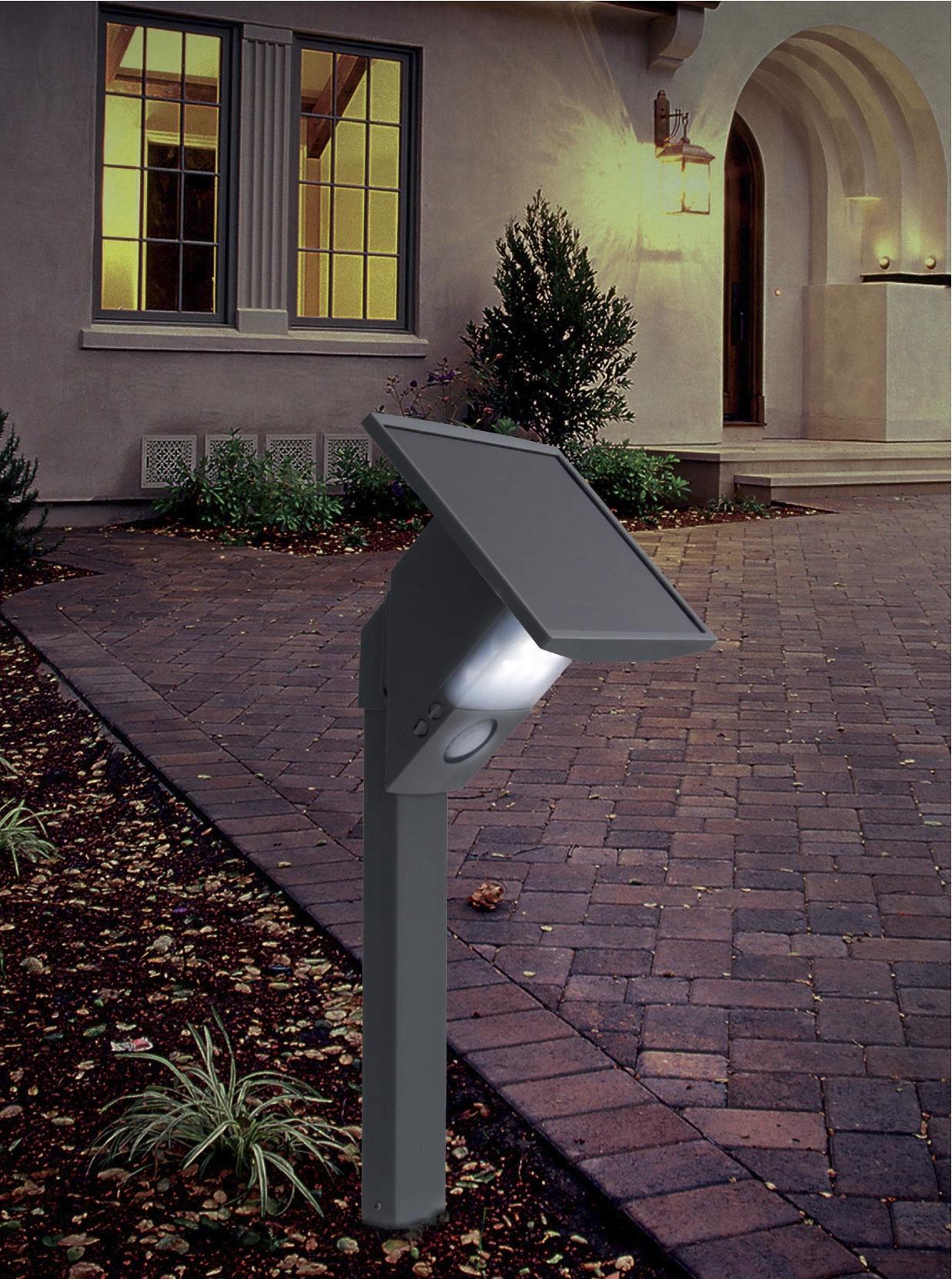 Borne solaire puissante 480 lumens eclairage solaire for Borne de jardin solaire