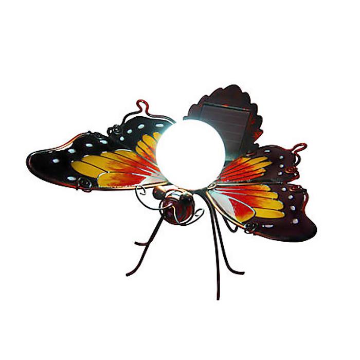 papillon solaire fer forg d coration solaire animaux objetsolaire. Black Bedroom Furniture Sets. Home Design Ideas