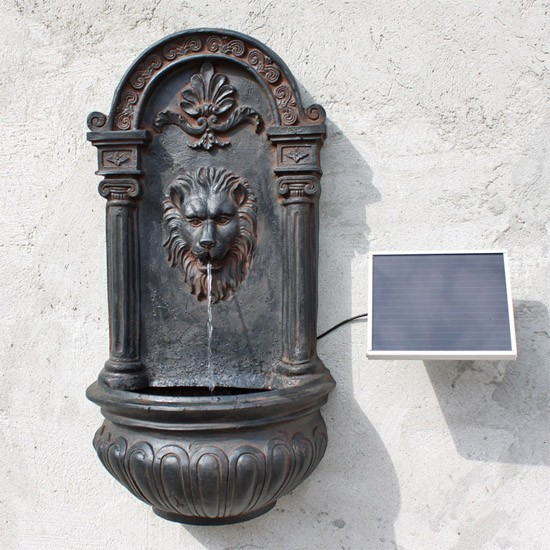 fontaine solaire murale lion fontaines solaires. Black Bedroom Furniture Sets. Home Design Ideas