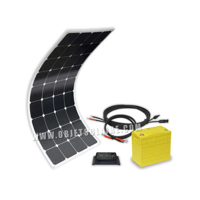 kit solaire sunpower 100w lithium 40a 12v sur le site internet objetsolaire. Black Bedroom Furniture Sets. Home Design Ideas