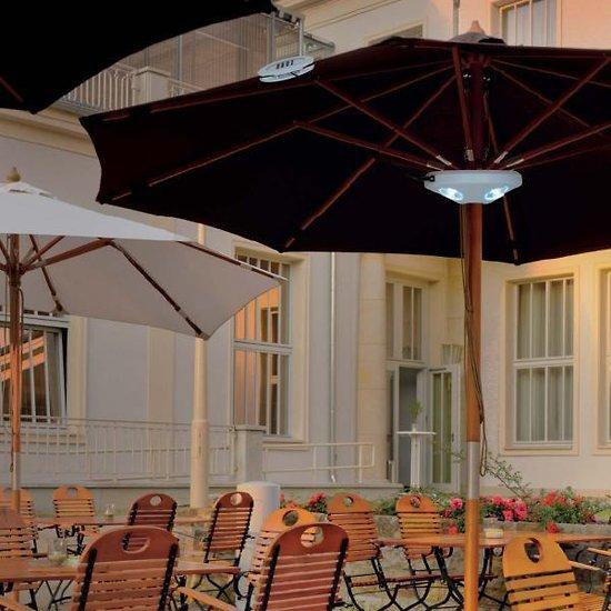 Eclairage lampe solaire parasol clairage solaire jardin objetsolaire for Eclairage jardin autonome