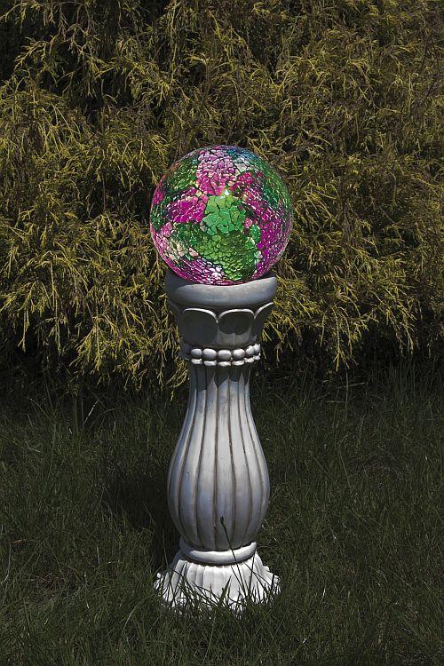 colonne de jardin solaire boule couleurs changeantes d coration solaire objetsolaire. Black Bedroom Furniture Sets. Home Design Ideas