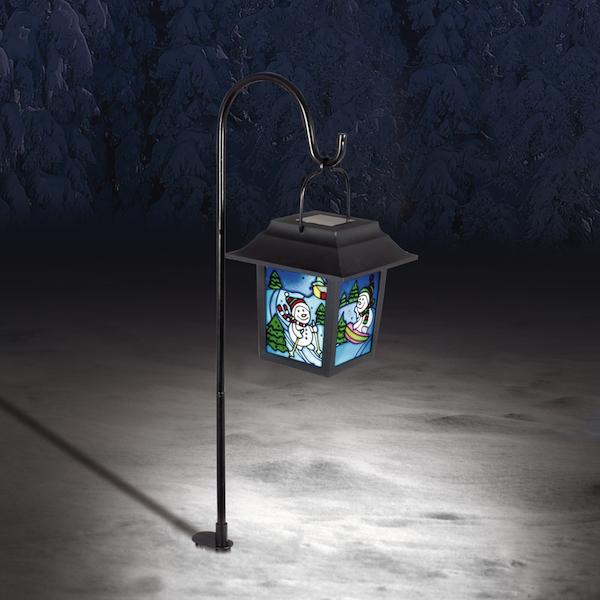 Lanterne solaire bonhomme de neige d coration solaire no l objetsolaire - Lanterne de jardin solaire ...