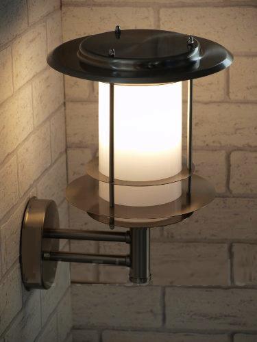 applique solaire inox 8 leds bt appliques solaires objetsolaire. Black Bedroom Furniture Sets. Home Design Ideas