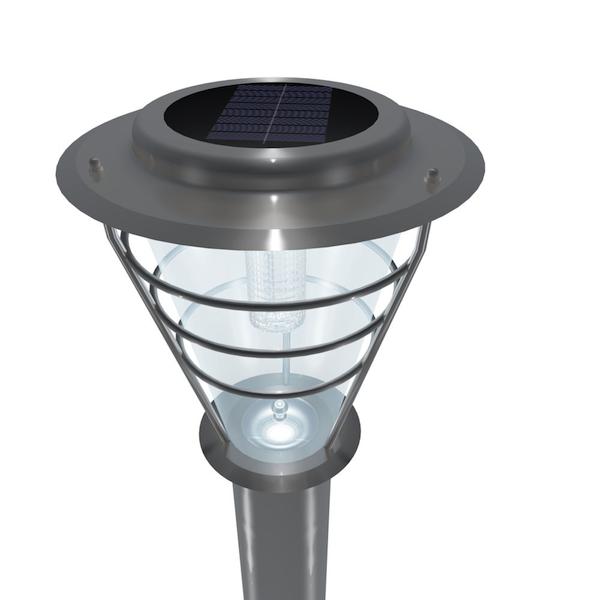 borne solaire 6 led asu balises bornes solaires objetsolaire. Black Bedroom Furniture Sets. Home Design Ideas