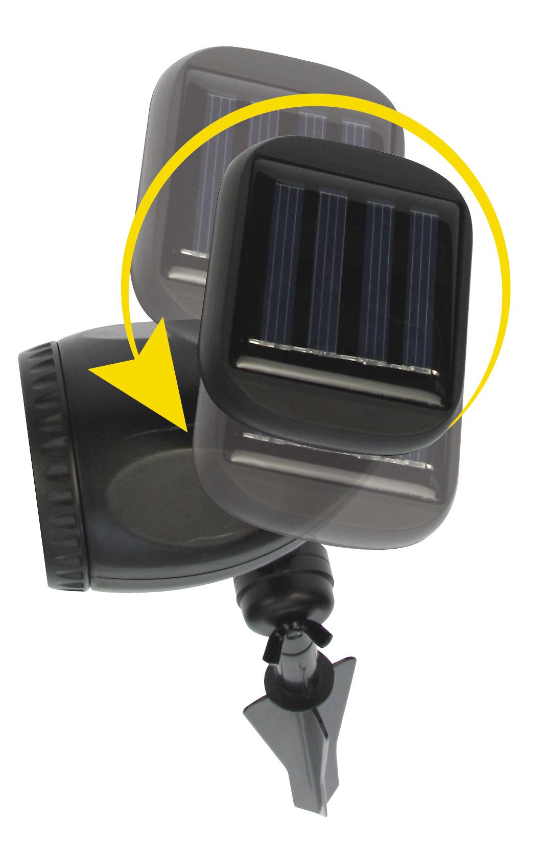 Spot solaire de jardin luis spot eclairage solaire - Spot de jardin solaire ...