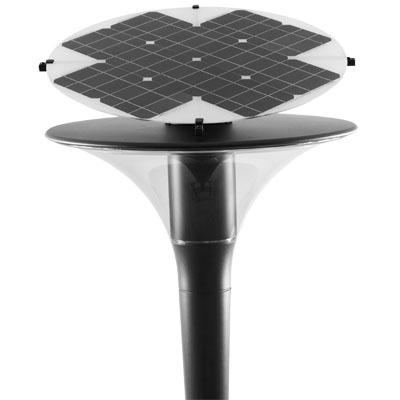 lampadaire solaire puissant goujon 2 16 w lampadaires solaires professionnels objetsolaire. Black Bedroom Furniture Sets. Home Design Ideas