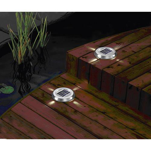 Spot solaire encastrable de surface 4 leds paves spots for Spot de terrasse encastrable