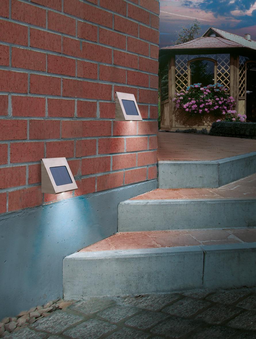 Lampe solaire murale applique solaire objetsolaire for Lampe murale exterieur