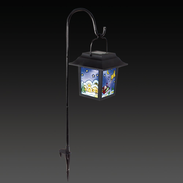 lanterne solaire p re no l d coration solaire no l objetsolaire. Black Bedroom Furniture Sets. Home Design Ideas