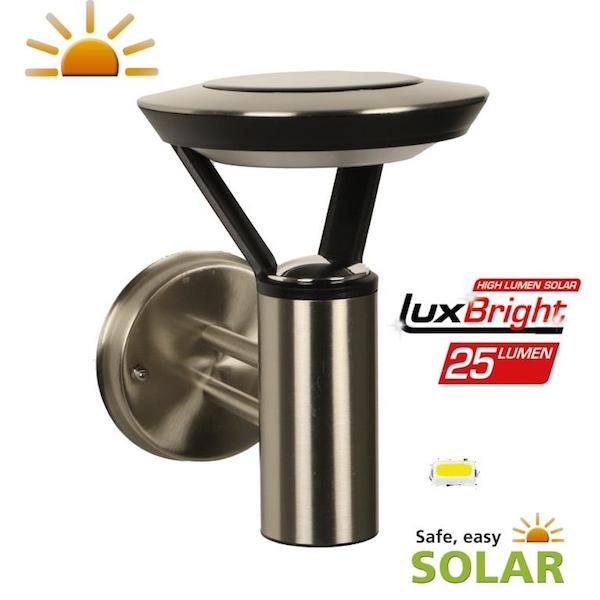Applique solaire inox perpignan 25lumens   appliques solaires ...