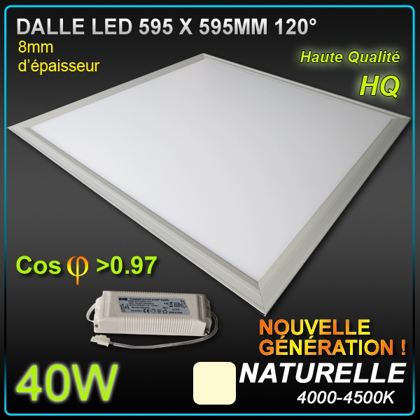 dalle led faux plafond 60 x 60 40w 4500 k plafonniers. Black Bedroom Furniture Sets. Home Design Ideas