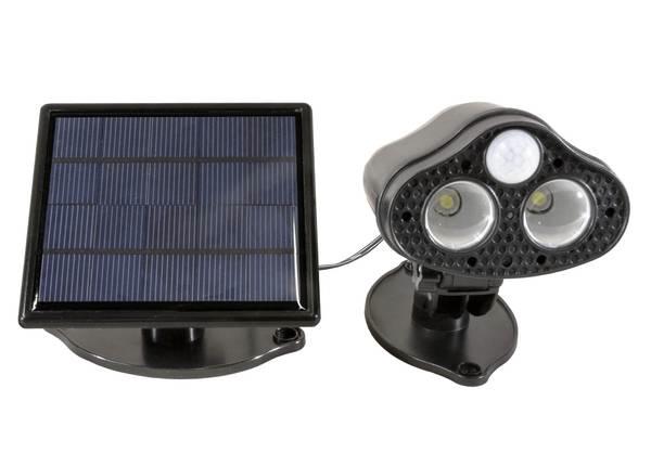 projecteur solaire puissant cam ra surveillance. Black Bedroom Furniture Sets. Home Design Ideas