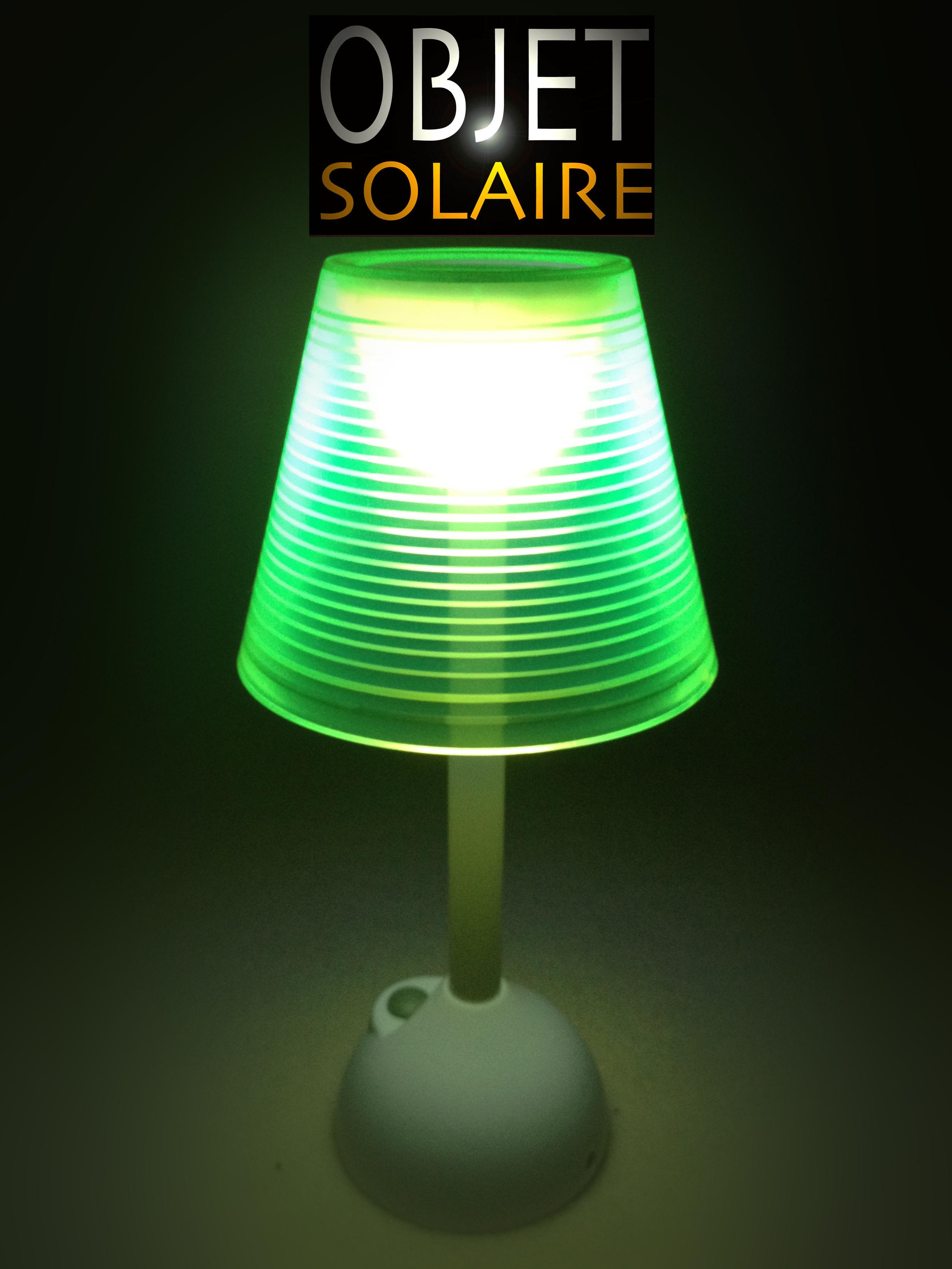 lampe solaire et usb lampes solaires decoratives table objetsolaire. Black Bedroom Furniture Sets. Home Design Ideas