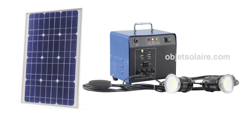 kit d 39 clairage solaire heit 20w 12v kit eclairage. Black Bedroom Furniture Sets. Home Design Ideas