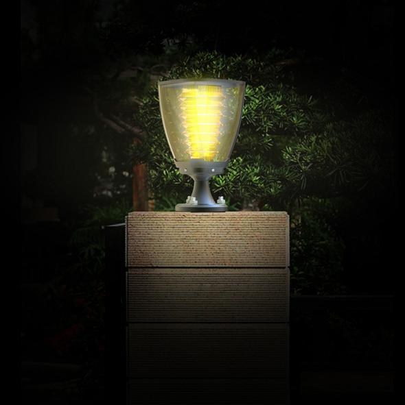 Lampe solaire puissante de poteau 100 lumens julia2 ip65 for Lampe a led pour exterieur