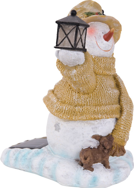 Homme de neige solaire no l d coration solaire no l for Decoration de noel solaire