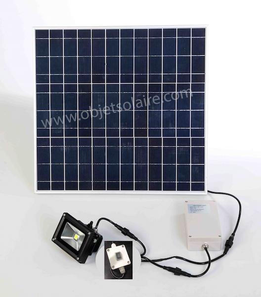projecteur solaire puissant 1000 lumens interrupteur zs 310 projecteurs solaires objetsolaire. Black Bedroom Furniture Sets. Home Design Ideas