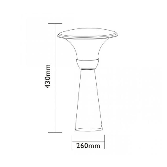 Lampadaire de Jardin Led 12v perth 43 cm- eclairage basse ...