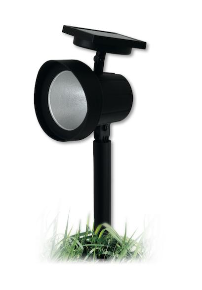 Spot solaire de jardin piquet nave 15 lumens spot eclairage solaire objetsolaire - Spot solaire jardin ...