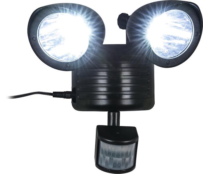 Spot solaire puissant 150 lumens d tecteur 2 lampes for Spot solaire 200 lumens