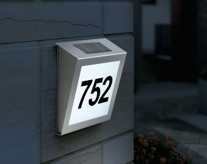 numero solaire maison rue bt2 inox 2 led eclairage. Black Bedroom Furniture Sets. Home Design Ideas