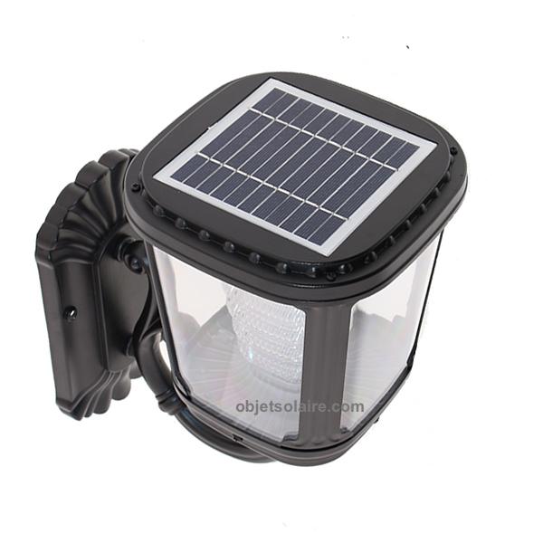 Applique solaire puissante zs gl04 200 lumens ip 65 for Spot solaire 200 lumens