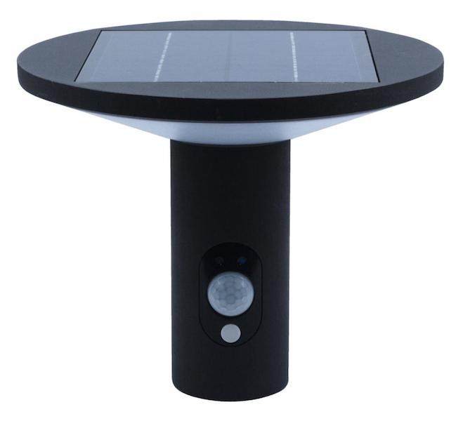 applique solaire puissante 210 lumens aluminium d tecteur karine applique solaire objetsolaire. Black Bedroom Furniture Sets. Home Design Ideas