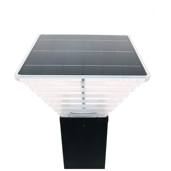 borne solaire puissante miami 280 lumens eclairage solaire puissant objetsolaire. Black Bedroom Furniture Sets. Home Design Ideas