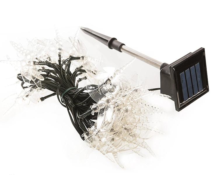 guirlande solaire libellule 50 led multicolore guirlandes solaires objetsolaire. Black Bedroom Furniture Sets. Home Design Ideas