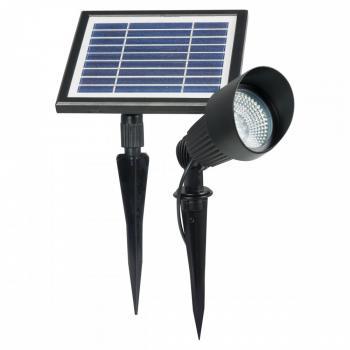 Spot solaire puissant fonte d 39 aluminium verre - Spot de jardin solaire ...