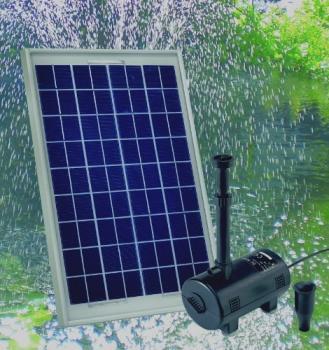 pompe fontaine solaire jet d 39 eau pour bassin kit pompes solaires objetsolaire. Black Bedroom Furniture Sets. Home Design Ideas