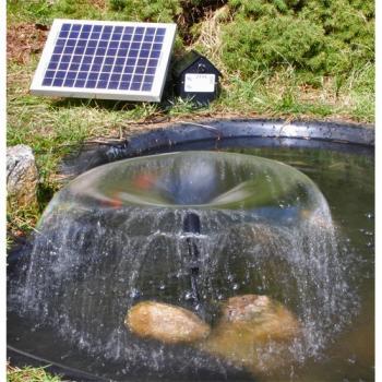 Pompe Fontaine Solaire Jet d\'eau batteries - pompes solaires ...
