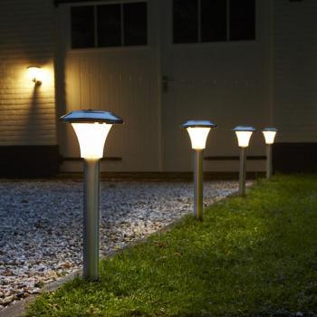Balise Solaire de Jardin Calais Verre 50 Lumens