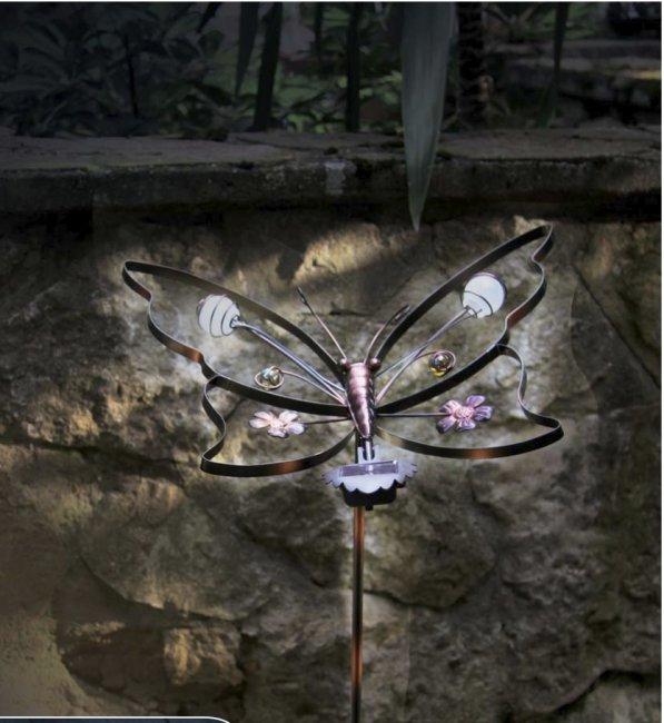 Papillon solaire design fer forg sur tige animaux d coration solaire objetsolaire - Papillon sur tige ...