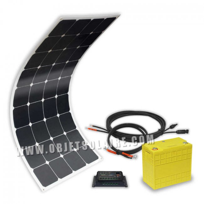 kit solaire sunpower 100w lithium 40a 12v sur le site. Black Bedroom Furniture Sets. Home Design Ideas