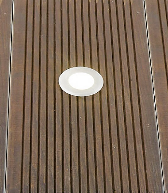 Spots solaires encastrables inox x 6 eclairage solaire for Spot encastrable plafond isole