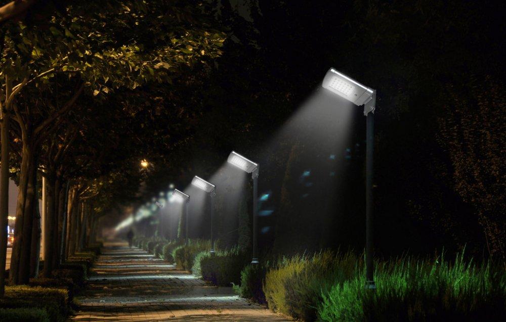 lampadaire solaire puissant 5 w led zs sl7 eclairage. Black Bedroom Furniture Sets. Home Design Ideas