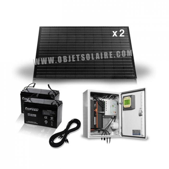 kit solaire complet 520w 24v 230v coffret pr c bl sur le. Black Bedroom Furniture Sets. Home Design Ideas