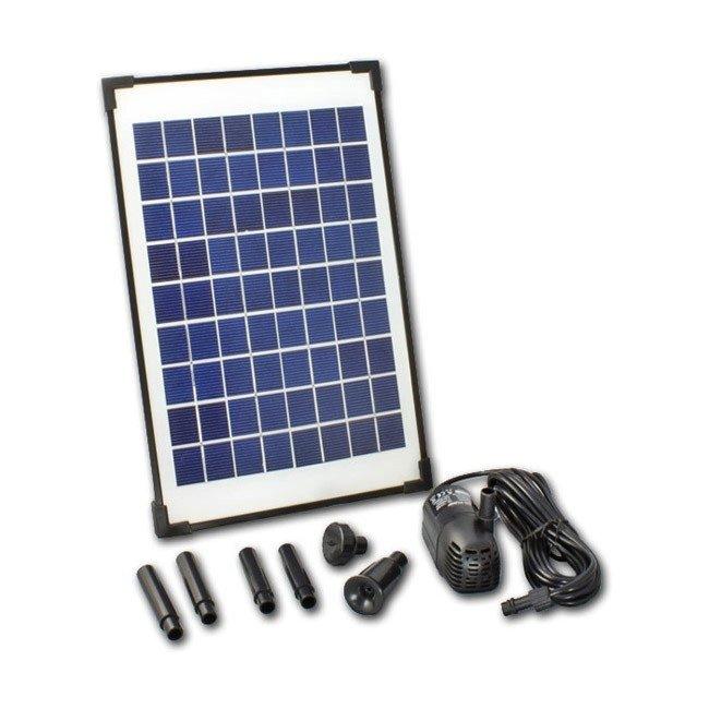 pompe solaire fontaine jet d 39 eau de bassin 10wc 610 l h. Black Bedroom Furniture Sets. Home Design Ideas