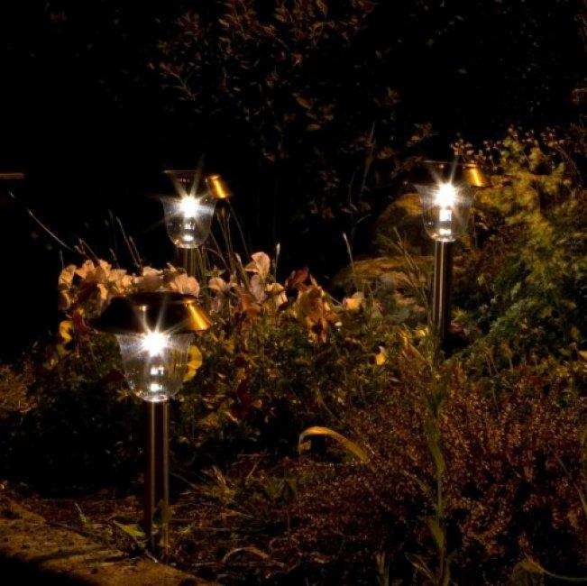 lampes solaires de jardin cuivre milos lot de 3 - balise ...