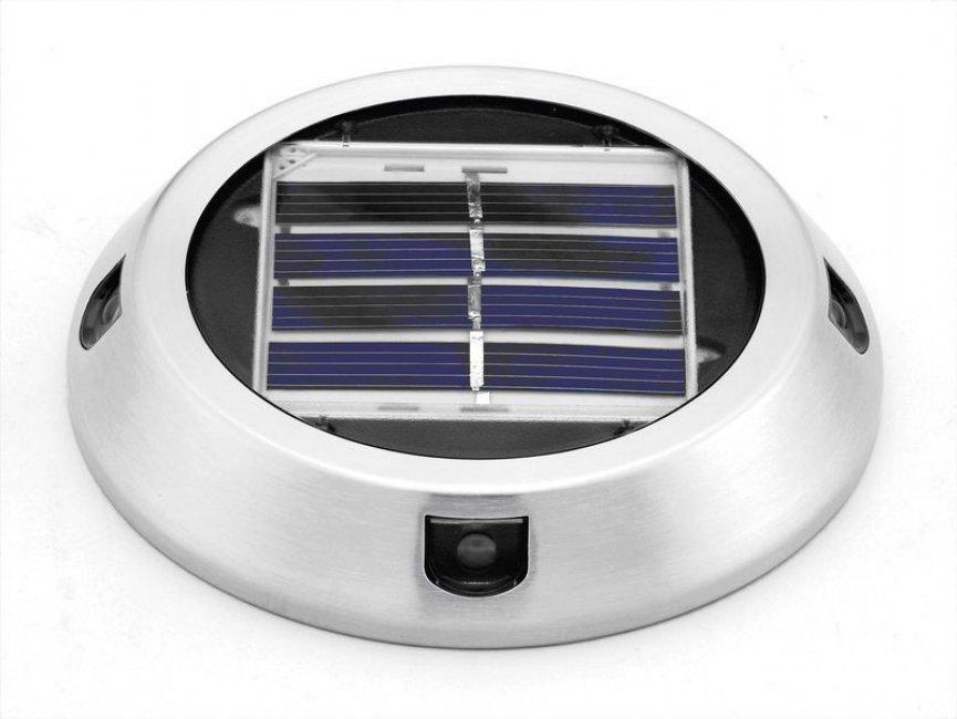 Spot solaire encastrable de surface 4 leds paves spots solaires sol objetsolaire - Spot solaire encastrable ...