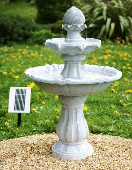 fontaine solaire cascade bain d 39 oiseaux souveraine fontaines solaires objetsolaire. Black Bedroom Furniture Sets. Home Design Ideas