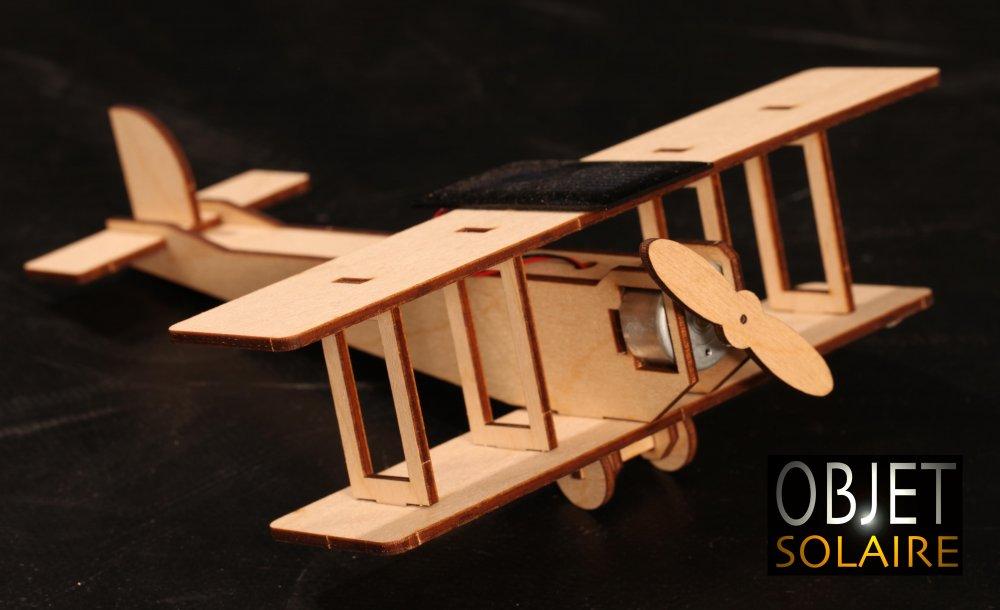 Avion solaire en bois  jouet maquette solaire  Objetsolaire