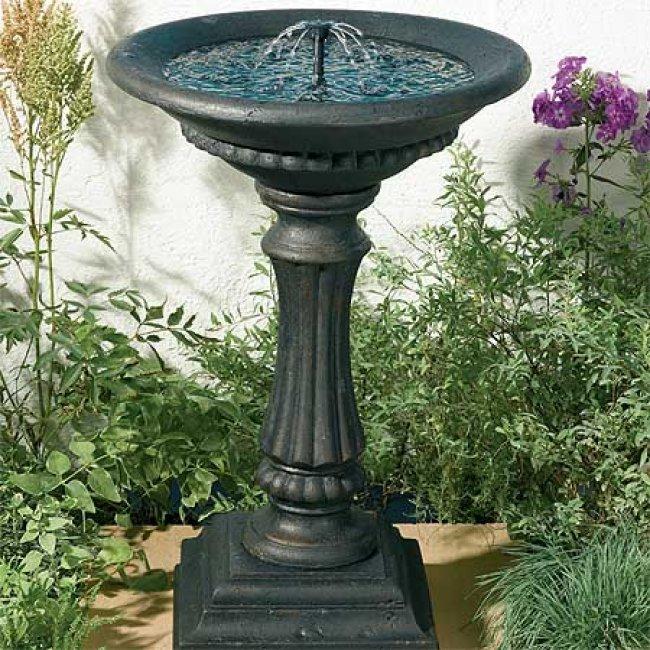 Fontaine pour oiseaux animalerie sur enperdresonlapin - Fuentes de marmol para jardin ...