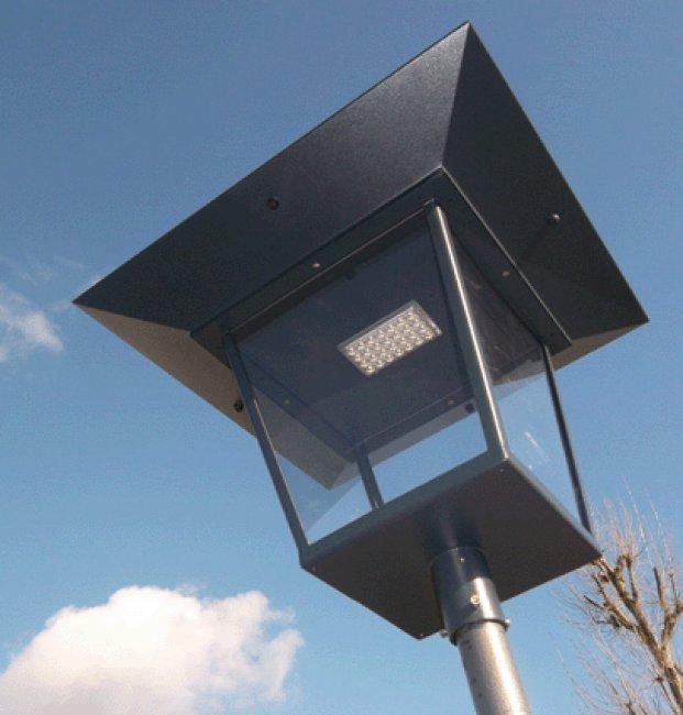 lampadaire solaire sunnyled city 50a sur le site internet objetsolaire. Black Bedroom Furniture Sets. Home Design Ideas