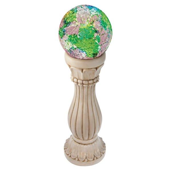 Colonne de jardin solaire boule couleurs changeantes for Boules decoratives jardin