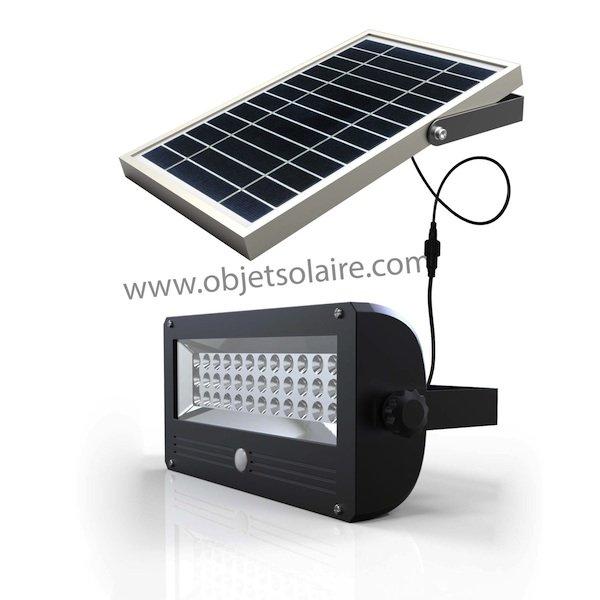projecteur solaire eclairage puissant 720 lumens. Black Bedroom Furniture Sets. Home Design Ideas
